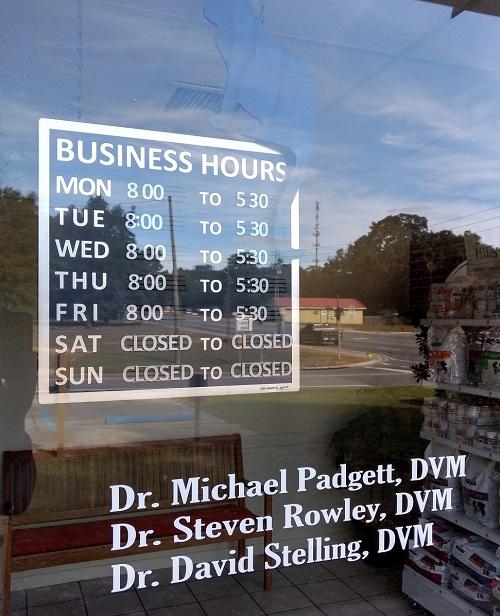 Santa Rosa Veterinary Clinic Business Hours